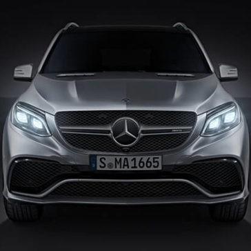 2017 Mercedes-Benz GLE 400 front exterior up close