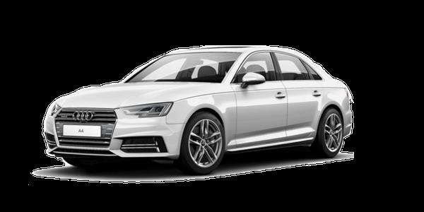 2018 Audi A4 white background