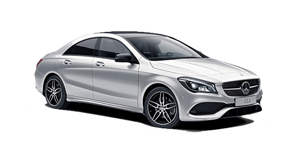 2018 Mercedes-Benz CLA 250 white background