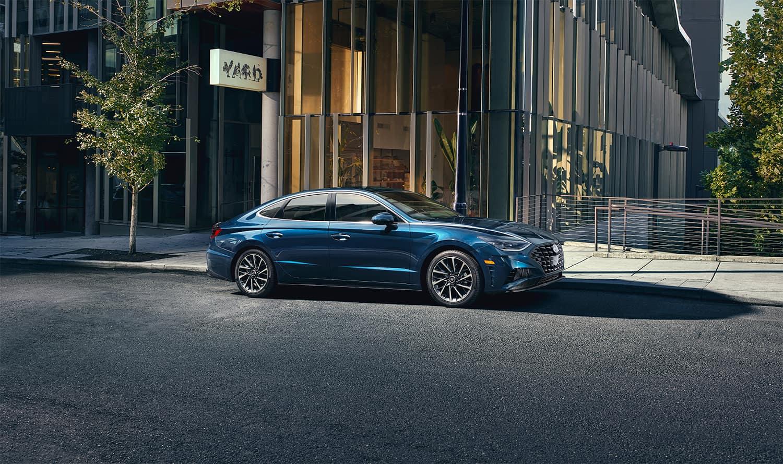 Washington Hyundai is a Hyundai Dealership in Washington near McGovern, PA | 2020 Hyundai Sonata parked on city street