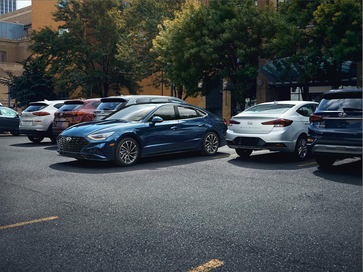 Washington Hyundai is a Hyundai Dealership in Washington near Wolfdale, PA   2020 Hyundai Sonata parking