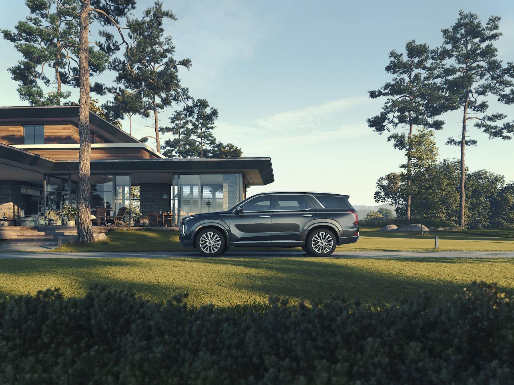 Washington Hyundai is a Hyundai Dealership in Washington near Steubenville, OH | 2021 Hyundai Palisade parked by home