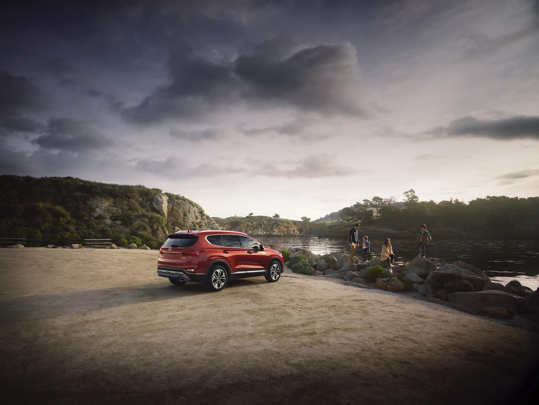 Washington Hyundai is a Hyundai Dealership in Washington near Steubenville, OH | 2021 Hyundai Palisade parked by lake