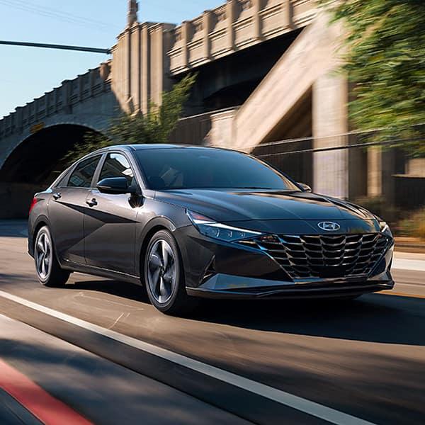 Benefits of Changing Your Hyundai's Oil at Washington Hyundai in Washington   Dark Silver 2021 Elantra Through City